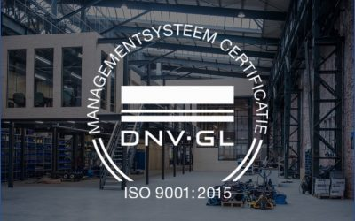 VertiDrive is now ISO 9001:2015 certified!